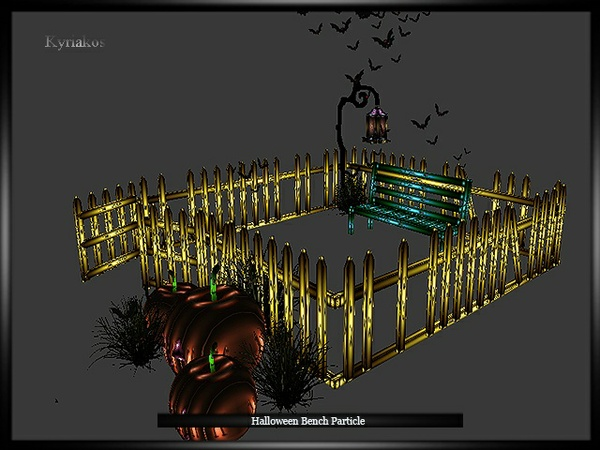 Halloween Bench Particle