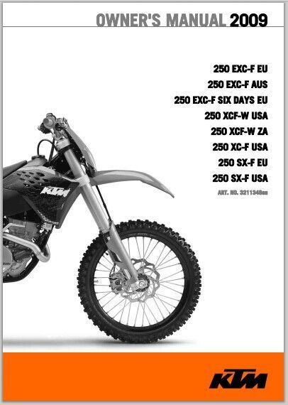 2009 KTM 250 EXC-F Owner Manual pdf Download