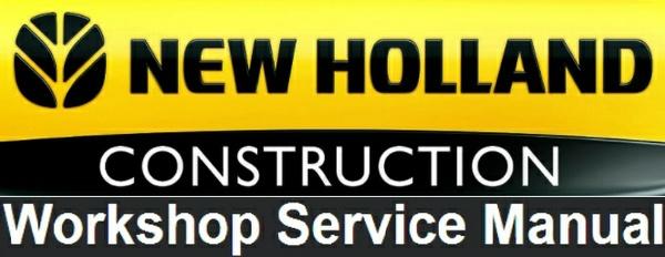 New Holland B90B, B90BLR, B100B, B100BLR, B110B, B115B Loader Backhole Service Repair Manual