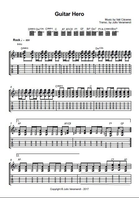Guitar Hero Sheet music