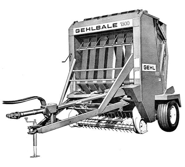 GEHL RB1500A Baler Parts Manual