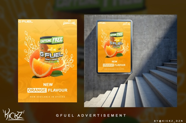 G-Fuel Advertisement PSD File