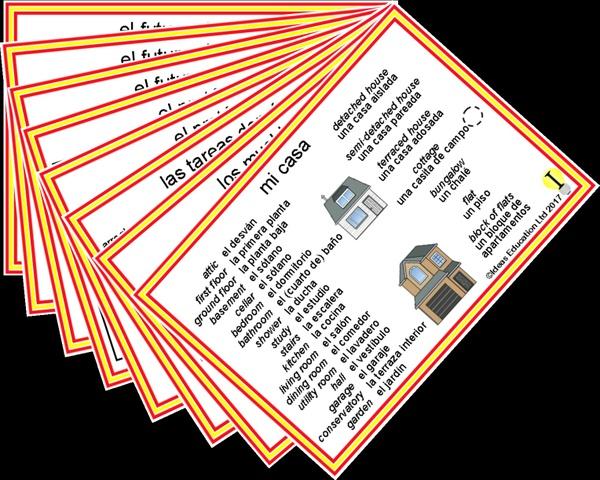 Spanish Pocket Cards, set 5