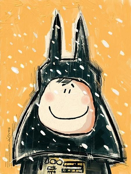 Foxy Darth Vader in the Snow! A3- 300dpi