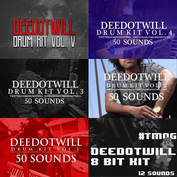 Deedotwill Drum Kit Collection (6 Drum Kits)