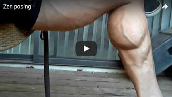Sergio Carpathos | Zen Posing | Muscle Worship Flexing Video For Sale