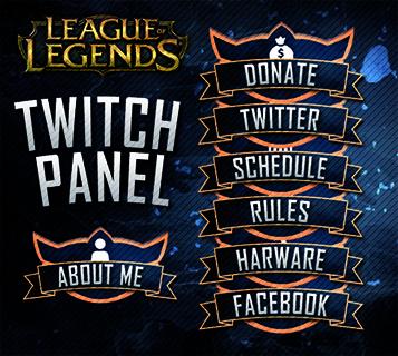 League of Legend Twitch Panel