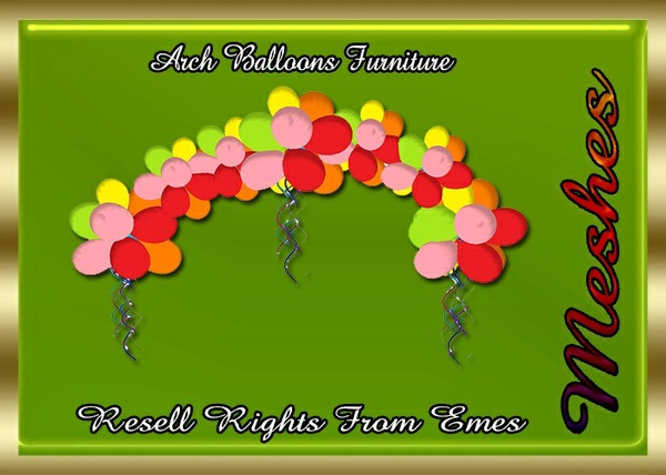 Arch Balloons Furniture Catty Only!!!