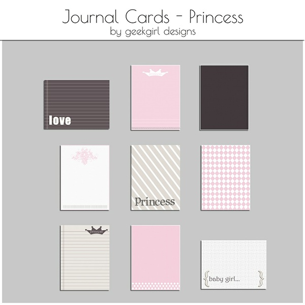 Princess Journal Card by geekgirl designs
