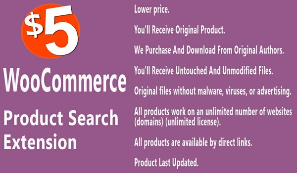 WooCommerce Product Search Extension