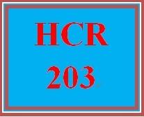 HCR 203 Entire Course