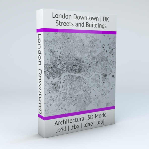 London Downtown Streets and Buildings Architectural 3D Model