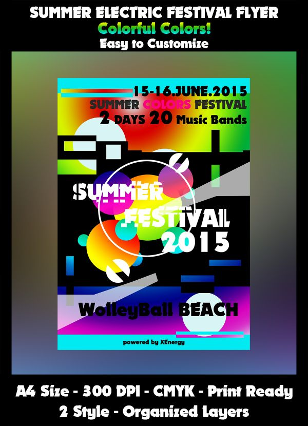 Summer Colors Festival Flyer Template