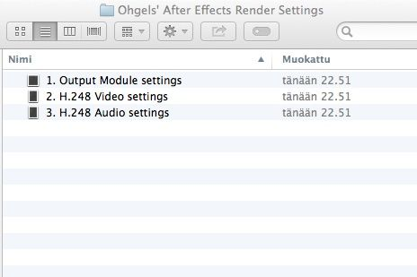 Ohgels' After Effects render settings