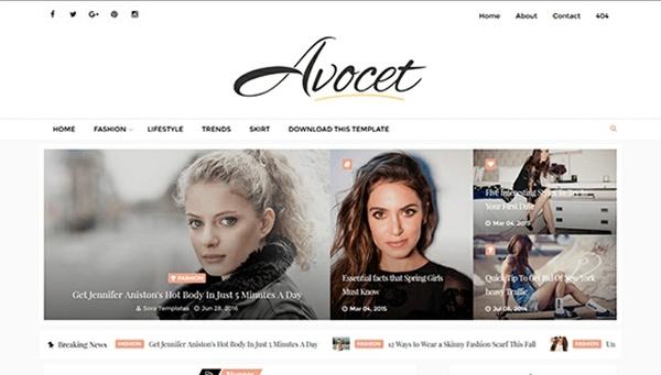 Avocet Blogger Template Premium Version