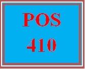 POS 410 Week 2 Lab One