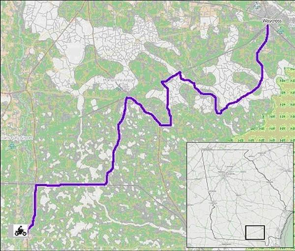 Statenville to Waycross (Georgia)