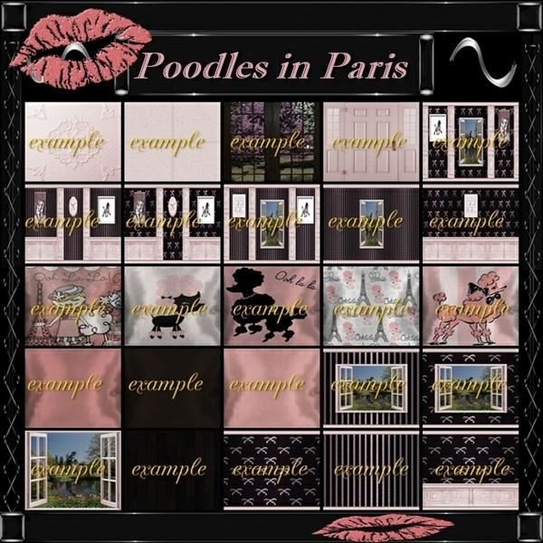 Room Textures Poodles in Paris 50 TXT