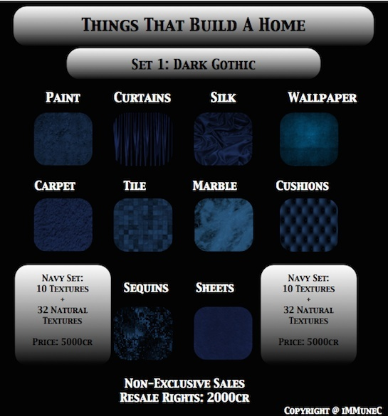42 Dark Gothic Blue Room Textures With Resell Rights