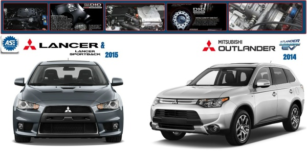 Mitsubishi Outlander Phev 2014 & Lancer & Sportback 2015 Workshop Manual