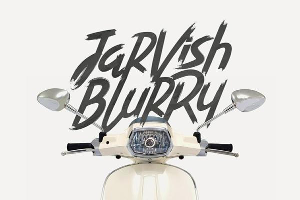 Jarvish Blurry - Brush Font
