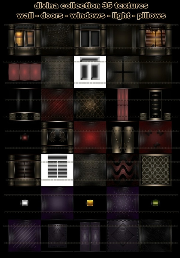 Divina collection 35 textures imvu room