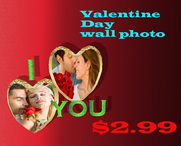 valentine day wall photo mesh