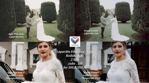 Lapardin Film-Like Wedding Luts (Kodachrome, Agfa)