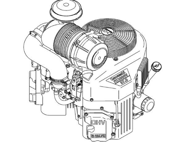 Kawasaki FX921V FX1000V 4-Stroke Air-Cooled V-Twin Gasoline Engine Service Repair Manual Download