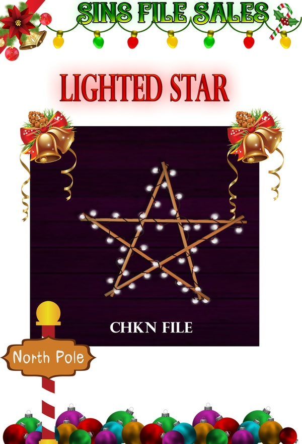 Lighted Star CHKN