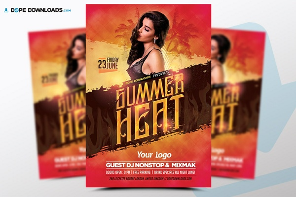 Summer Heat Flyer Template