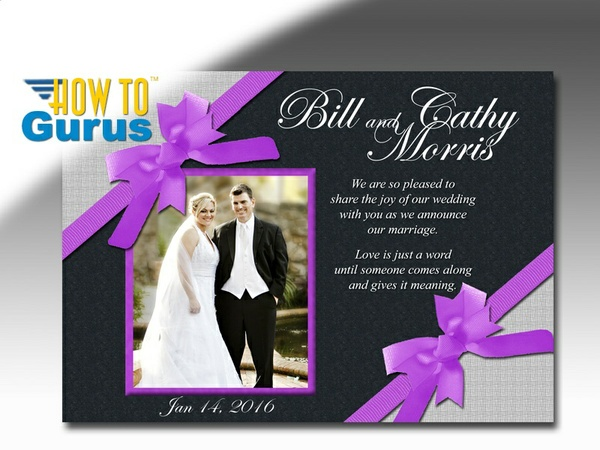 How to Make a Wedding Announcement in Photoshop CC CS6 CS5 CS4 Tutorial