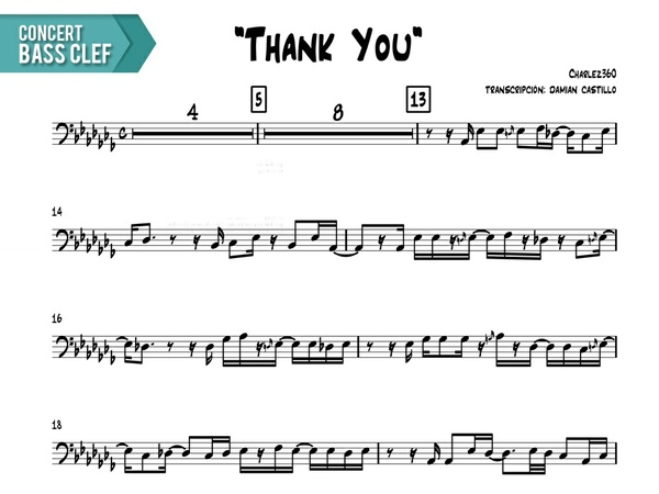 """Charlez360 - """"Thank You"""" - Concert Bass Clef"""