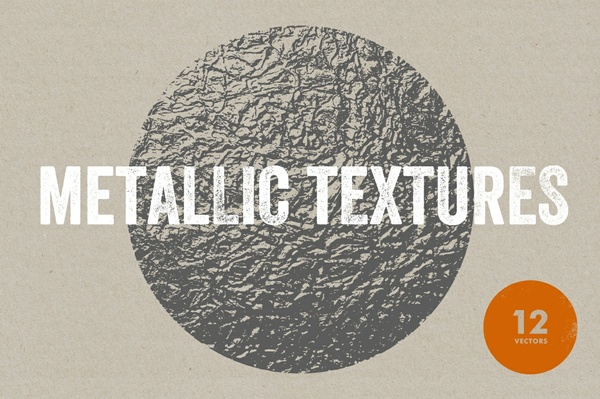 Metallic Textures - 12 Vectors