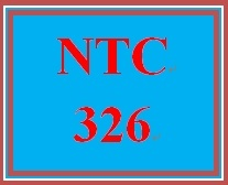 NTC 326 Week 3 Individual Configuration Scenario