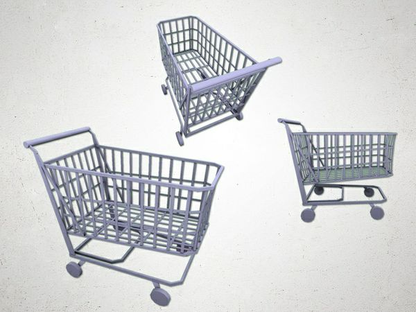 Shopping trolly - 3D Model