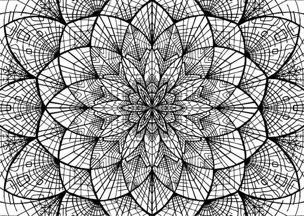 Sacred Geometry Flower design Mandala Coloring