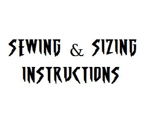 Sewing & sizing instructions