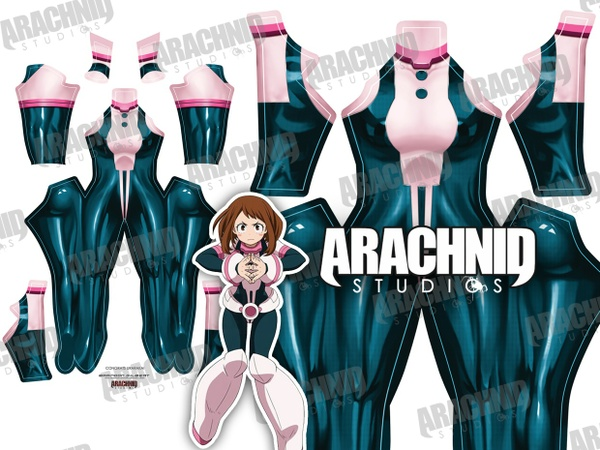 Uraraka V2 (No belt, boots, wrist guards) Dye-sub pattern