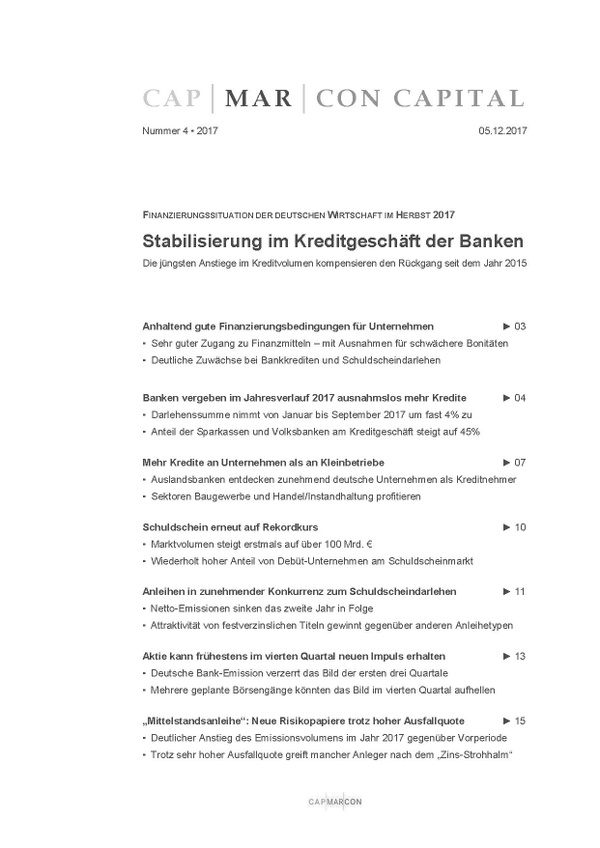 CAPMARCON CAPITAL 2017 Heft Nr. 4