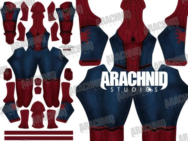 Civil War Spider-Man (Female version) Dye-sub Pattern