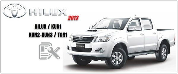 TOYOTA HILUX 2011- 2013 SERVICE INFORMATION & REPAIR MANUAL
