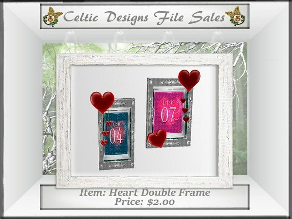 CD Heart Double Frame