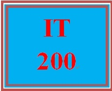 IT 200 Week 1 participation Supporting Activity SaaS