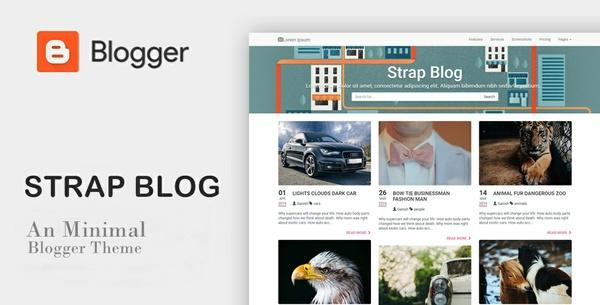 Strap Blog SEO Responsive Blogger Template