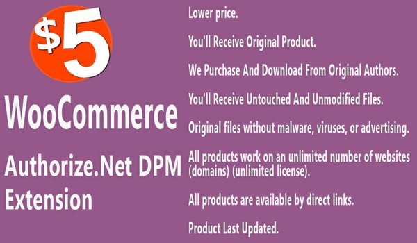 WooCommerce Authorize net DPM Payment Gateway Extension