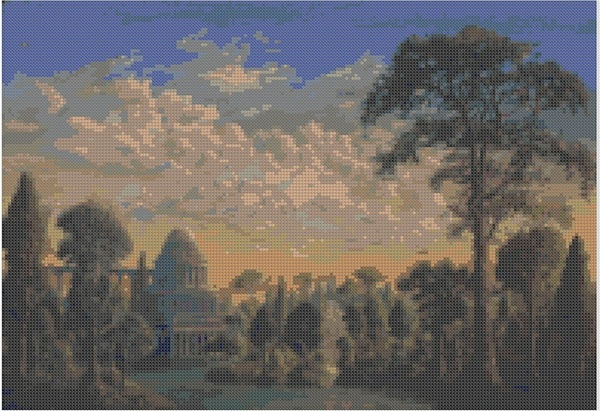 cross stitch pattern Mar-007c