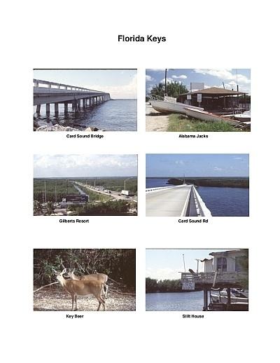 Florida Keys Scenic Motorcycle Ride Map
