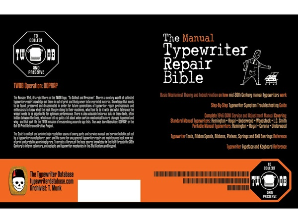 The Manual Typewriter Repair Bible