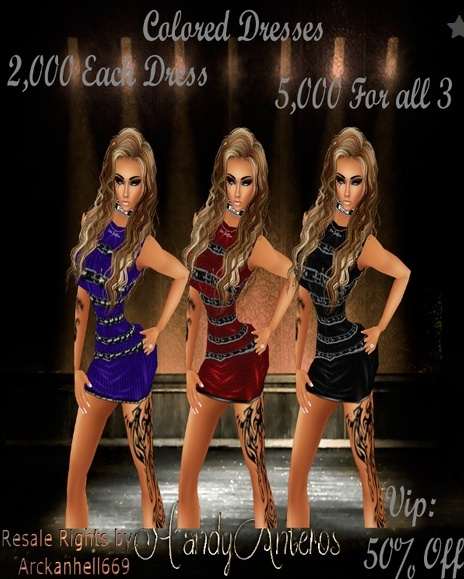 Colored Dress (3 pack)